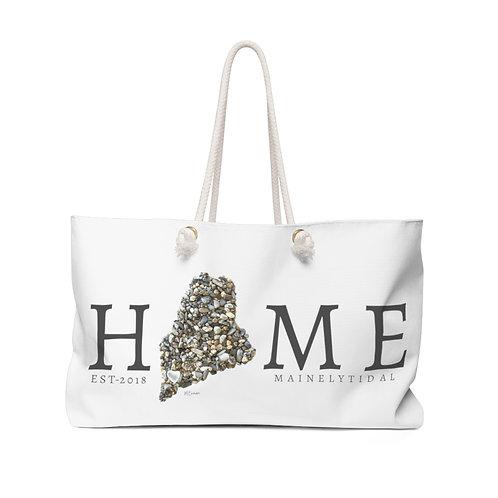 Home Maine Weekender Bag, Boat Bag White & Gray
