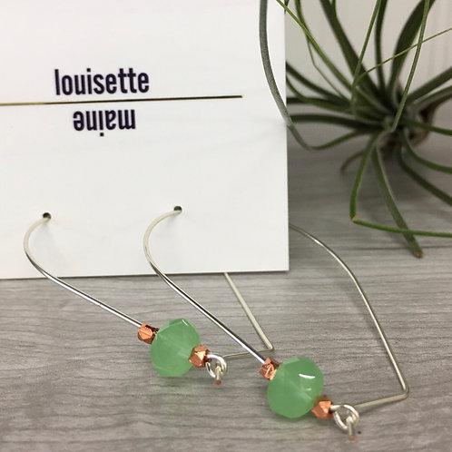 Mini Aqua Hoop Earrings