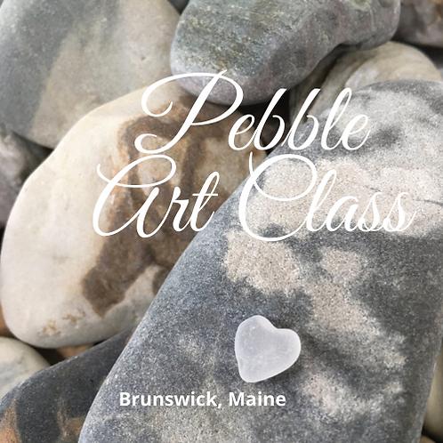 June 24th 6:00-8:00 PM (Thursday) 5x7 Pebble Art Class