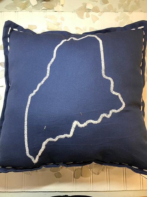 Blue Maine Pillow