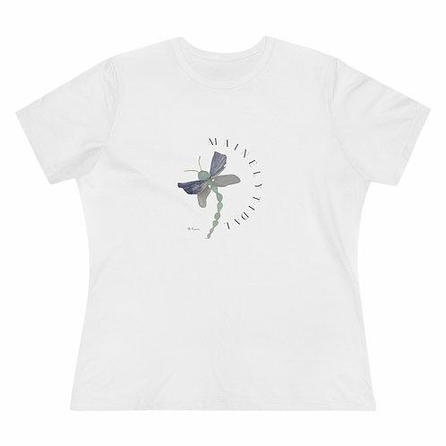 Sea Glass Dragonfly Women's Premium Tee