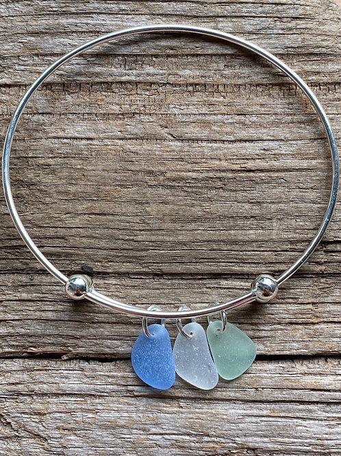 Sea Glass Expandable Bracelet