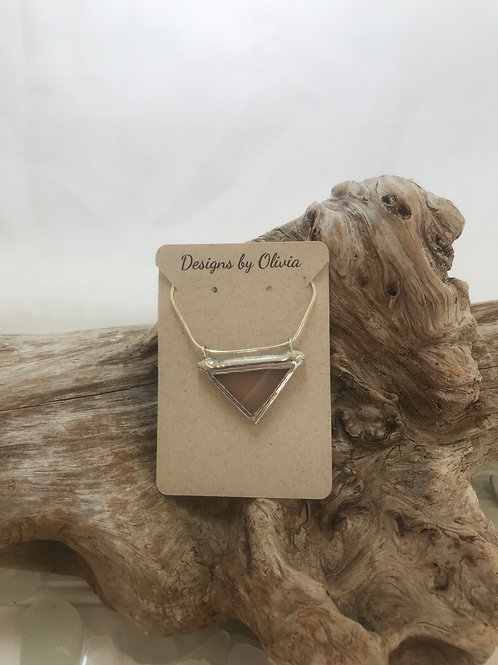 Stained Glass Triangle Necklace