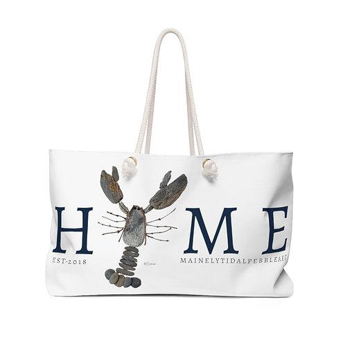 Maine Rock Lobster Weekender Bag, Beach Bag, Boat Bag