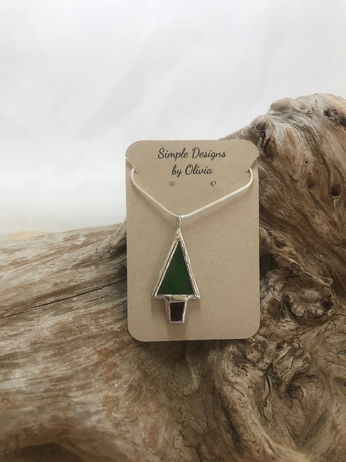 Stained Glass Tree Necklace