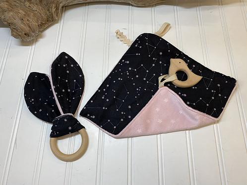 Black & Pink Baby Set
