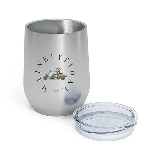 Mainely Tidal Motorcycle Insulated Wine Tumbler