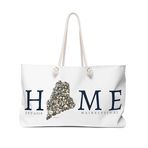 Home Maine Weekender Bag, Boat Bag White & Navy