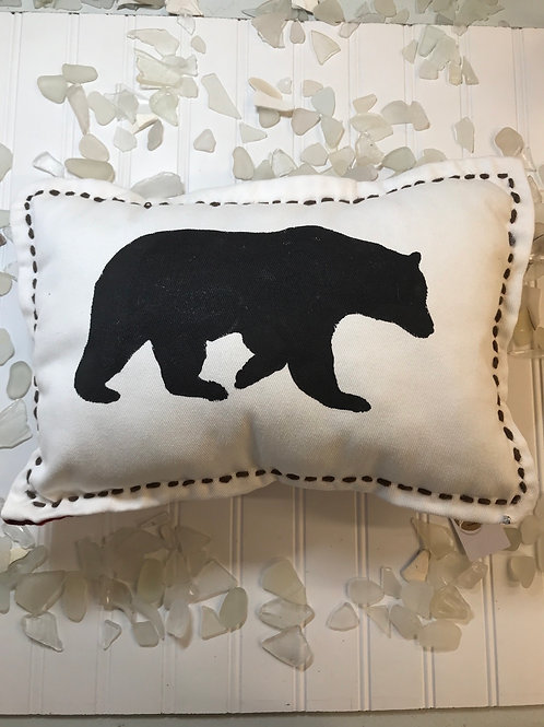 Double Sided Bear Pillow