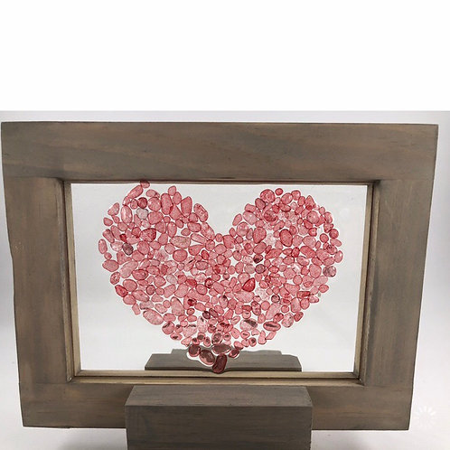 Bead Heart Resin Art
