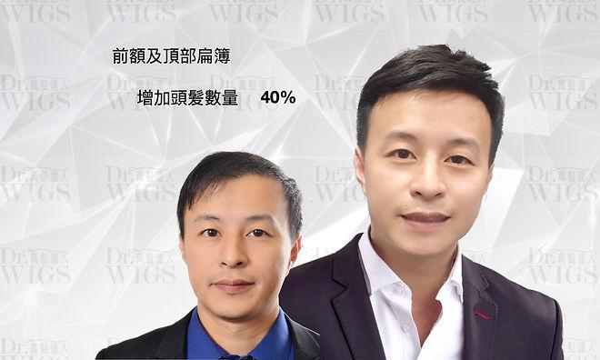 織髮增加40%