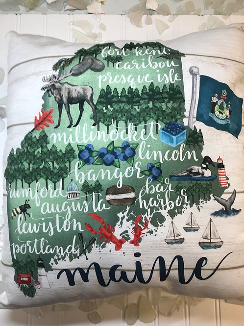 Printed Maine Pillow