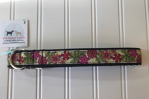 Dog Collar, Large - Multi Colored Flowers
