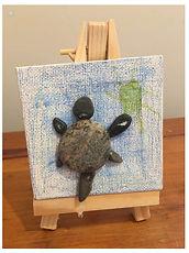 Turtle Pebble Art, Birthday Party Favor, Birthday Gift, Unique Turtle Gift.