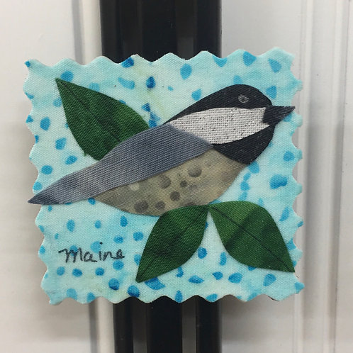 Fabric Collage Magnet