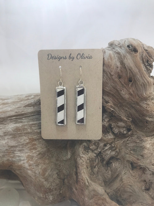Stained Glass Bar Shaped Earrings
