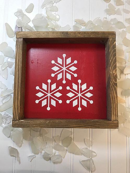 Snowflake Christmas Sign