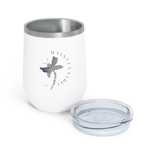 Dragonfly Mainely Tidal Insulated Wine Tumbler