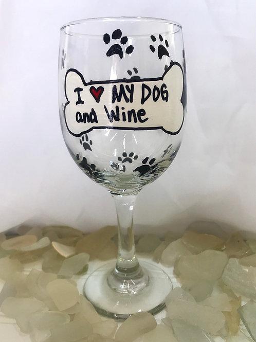Paw Print Wine Glass