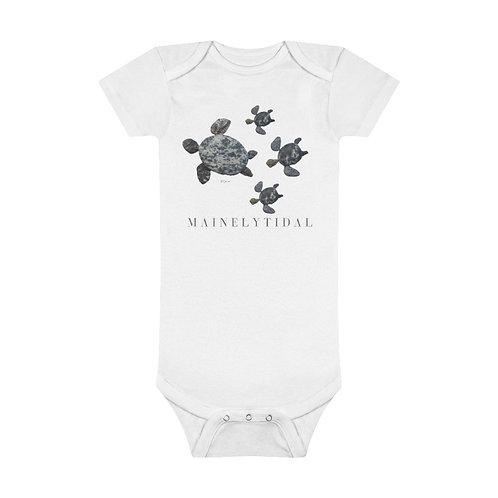 Mainely Tidal Turtle Family Onesie® Organic Baby Bodysuit