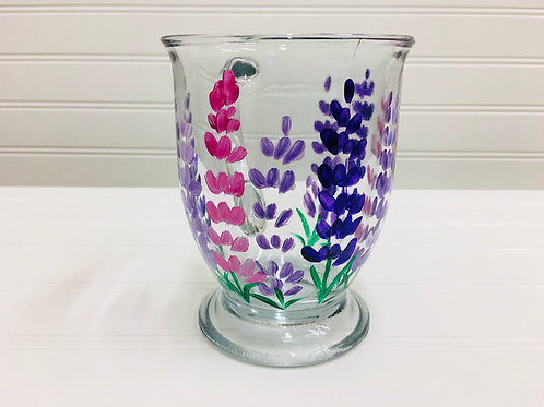 Hand painted Lupine Coffee Mug 12oz
