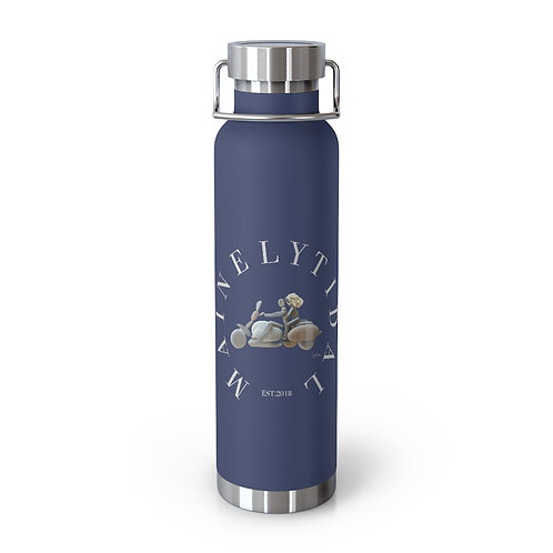 Navy Mainely Tidal Biker 22oz Vacuum Insulated Bottle