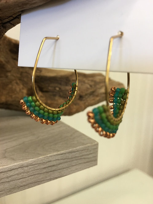 Mini Beaded Hoops