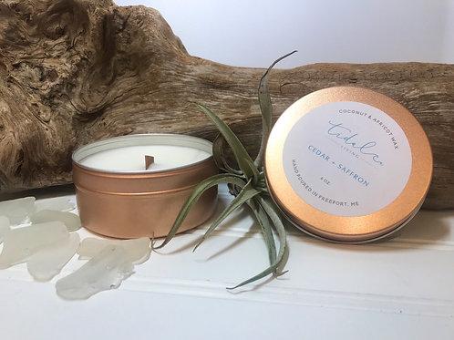 Cedar and Saffron - 6 oz. Candle
