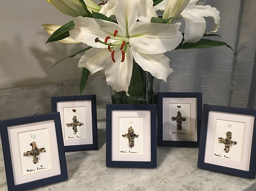 Cross with Heart Rock 3x4 (1 Per Order)