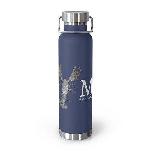 Home Rock Lobster Mainely Tidal 22oz Vacuum Insulated Bottle
