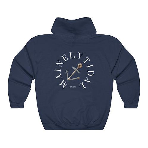 Maine Sweatshirt, Anchor Sweatshirt, Unique Mainely Tidal Sweatshirt