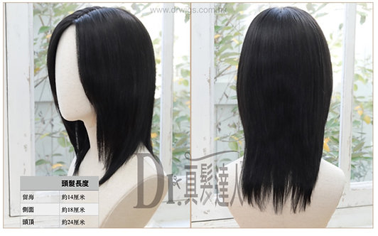 25cm 「全頭真髮」隨意修剪任何髮型