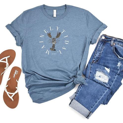 Maine T-Shirt, Maine Art, Portland Maine, Rock Lobster, Maine Lobster