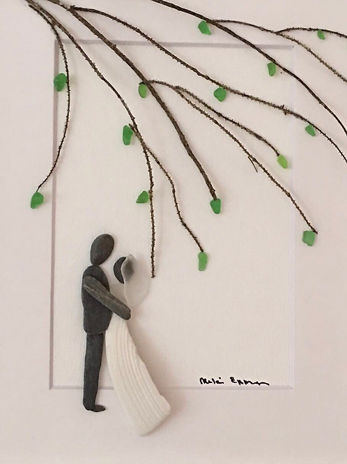 Barnwood wedding with tree 8x10 Made to Order