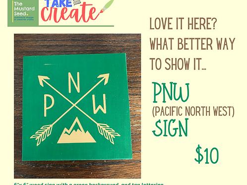 PNW Mountain sign