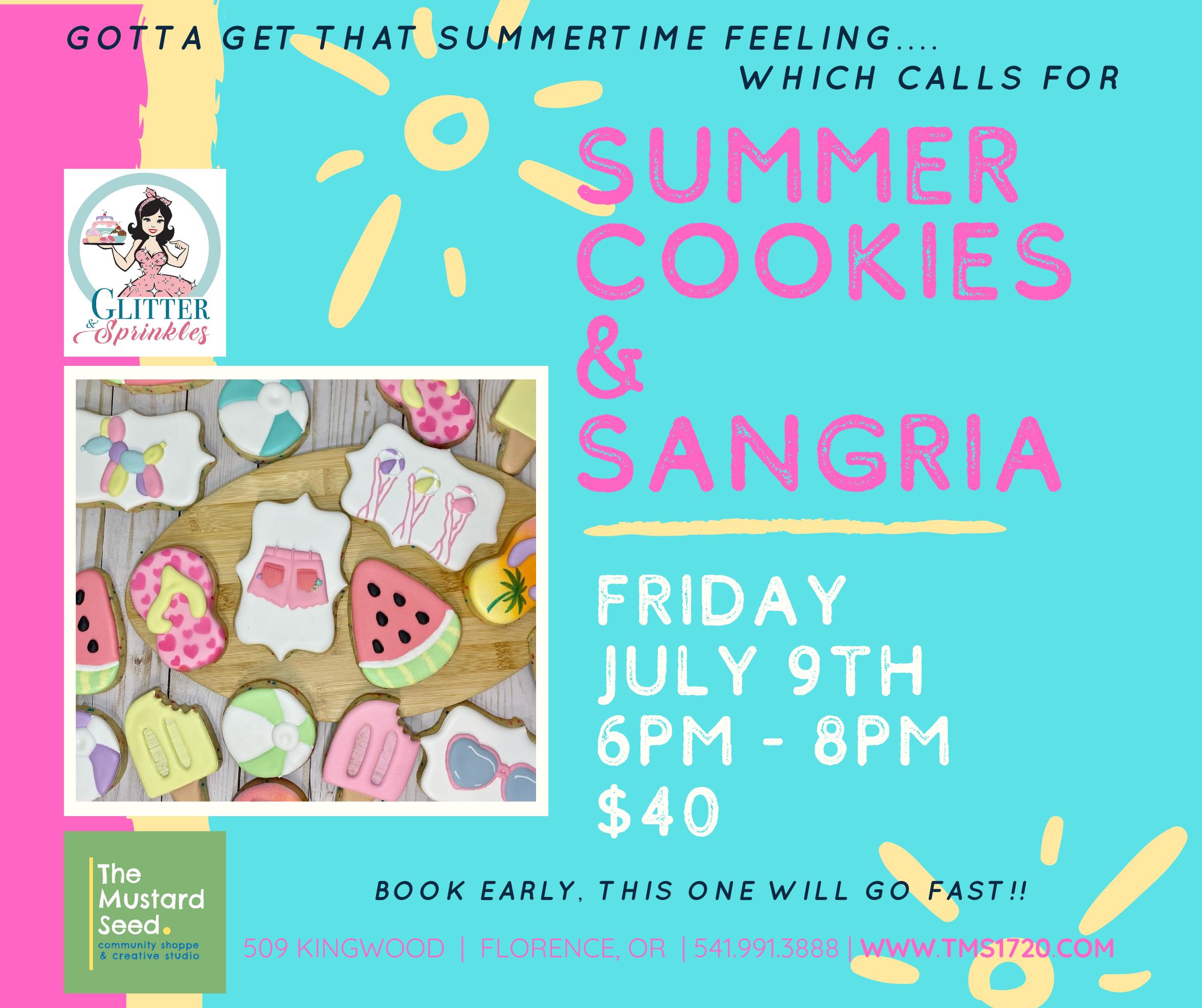 Summertime Cookies & Sangria