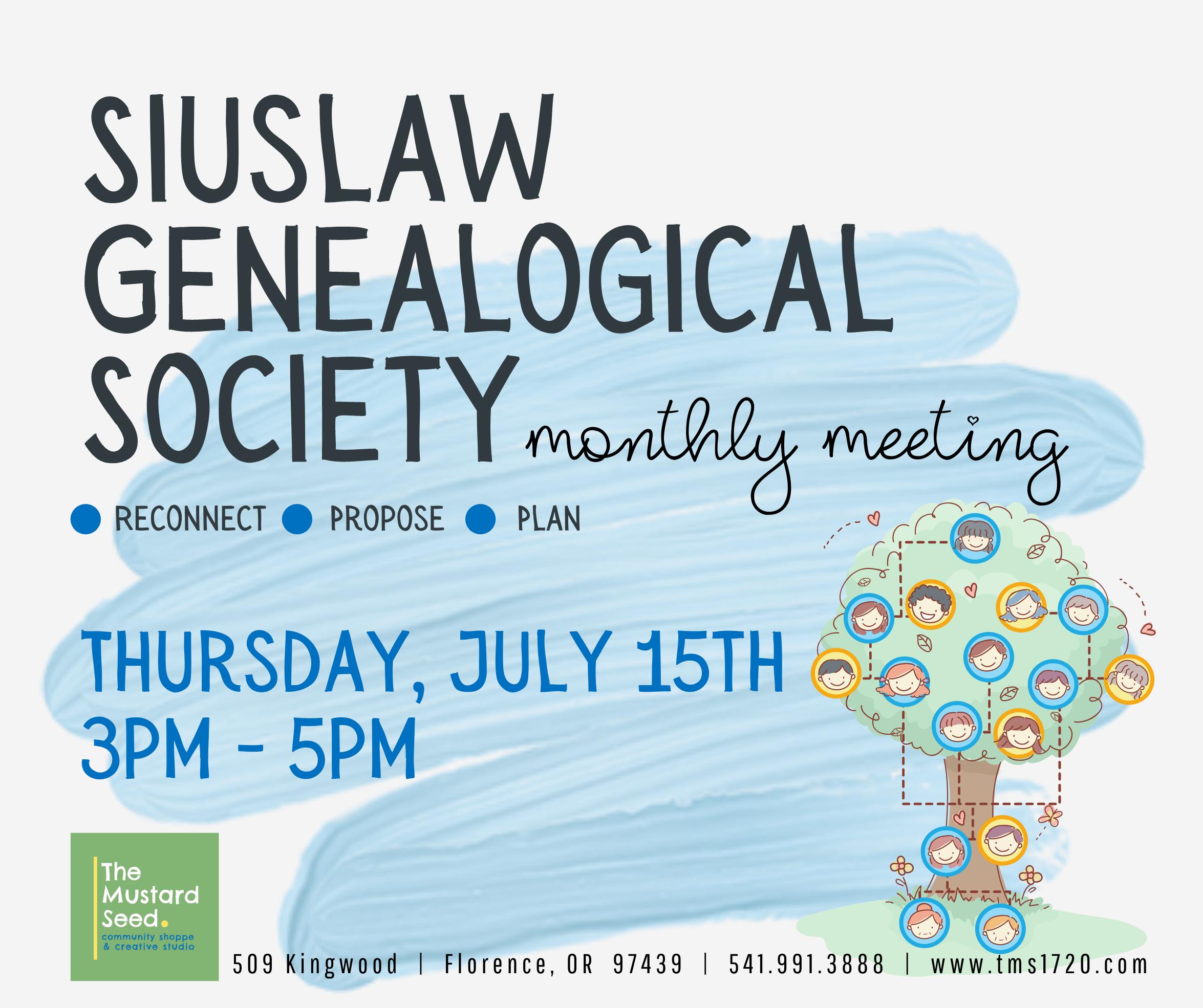 Siuslaw Geneaology Society Meeting