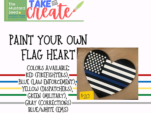 Paint Your Own Sign : Heart Flag