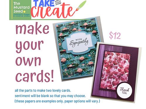 Take&Create : 2 Card Kit