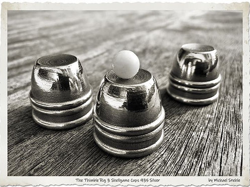 The Thimble Rig Cups Set solid cast 935 silver
