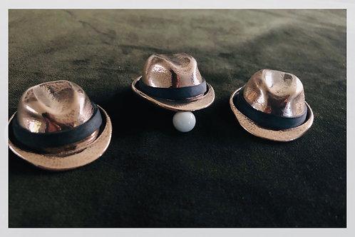 The Fedora Hat Shells bronze