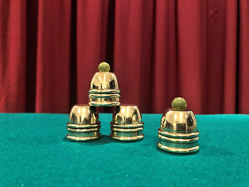 The Thimble Rig Cups Set solid cast brass