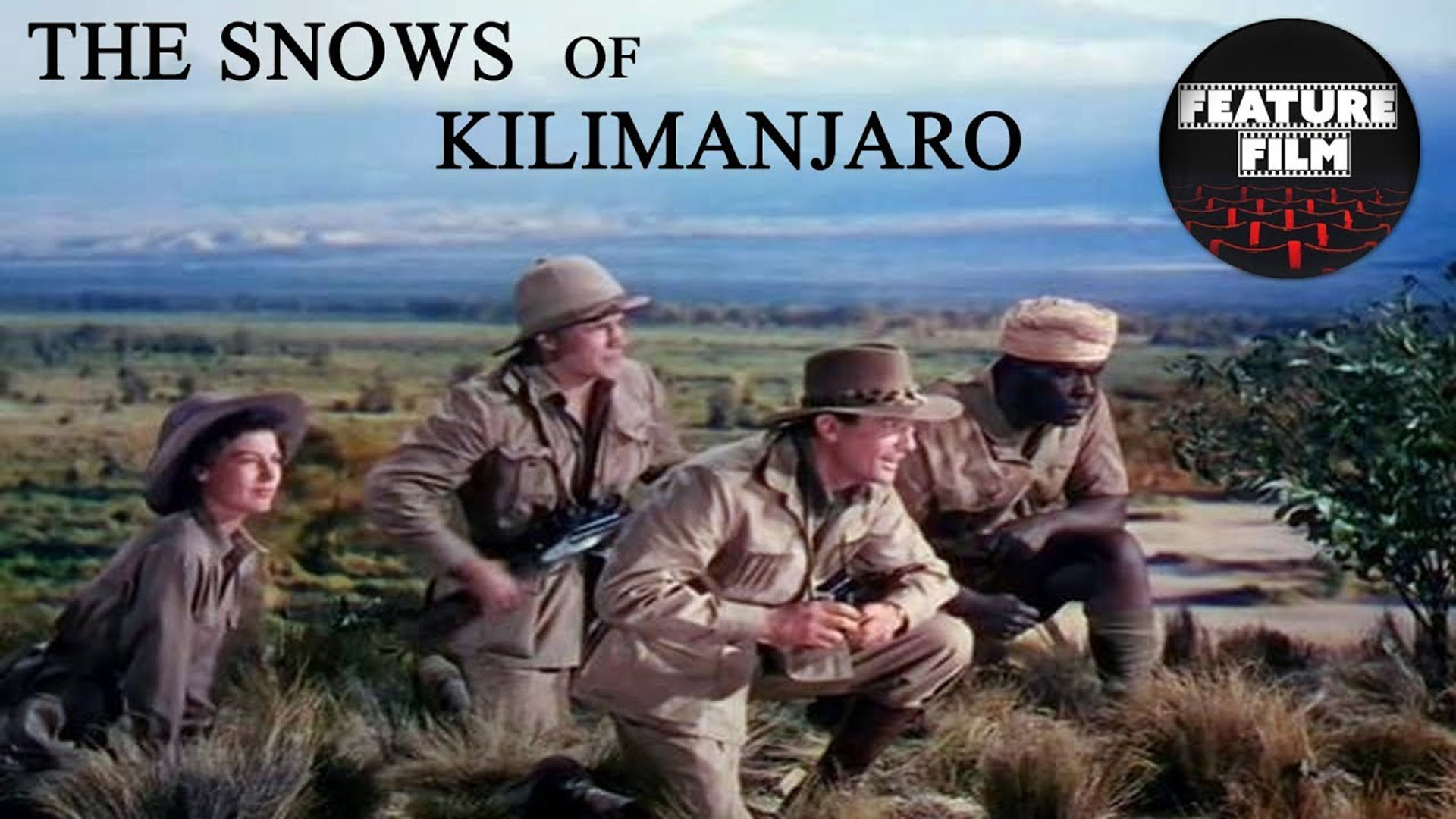 """The Snows of Kilimanjarois a 1952 American technicolor film based on the short story of a similar title by Ernest Hemingway.The story centers on the memories of writer Gregory Peck who is taking a safari in Africa. There, he is wounded by a thorn prick, and suffering from gangrene, he lies awaiting death. This causes him to look back at his memories of the past years, and how little he has actually accomplished in his writing. Both Hemingway's and King's iterations explore the political landscape of America and Africa during their times in the guise of the literary conflict of man vs. nature.  Today, the snows of Mount Kilimanjaro, the highest mountain in Africa, whose western summit is called the """"House of God"""" continues to recede due to climate change."""