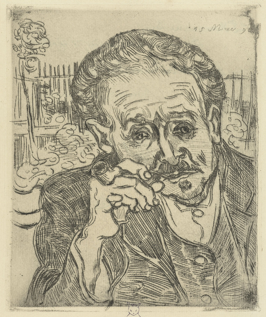 """Based on his reputation and his familiarity with artists, Dr. Paul Gachet was expected to mend Van Gogh's mental condition. But on July 27, 1890, the artist shot himself to the chest, killing him two days later. Some have blamed the poor psychiatric care of Gachet for van Gogh's death, however,the artist famously declared before passing, """"My body is mine and I am free to do what I want with it. Do not accuse anybody, it is I that wished to commit suicide."""""""