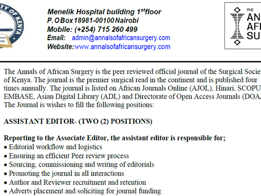 Call for Assistant Editors
