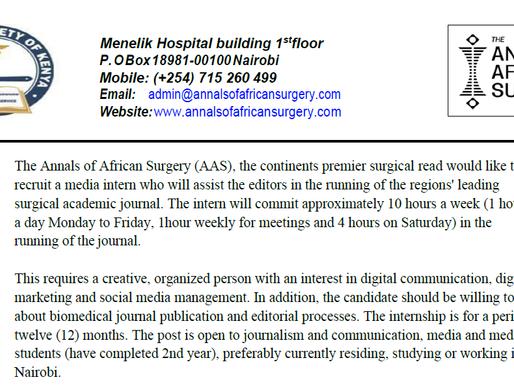 Call For Media Intern