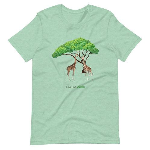 Love our planet - Giraffes. - Short-Sleeve Unisex T-Shirt
