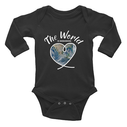 The World is demanding LOVE - Infant Long Sleeve Bodysuit