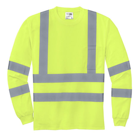 Class 3 Long Sleeve Snag-Resistant Reflective T-Shirt