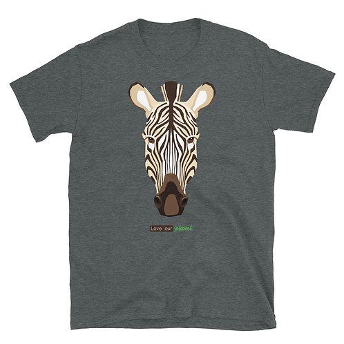 Love our planet / Zebra - Short-Sleeve Unisex T-Shirt